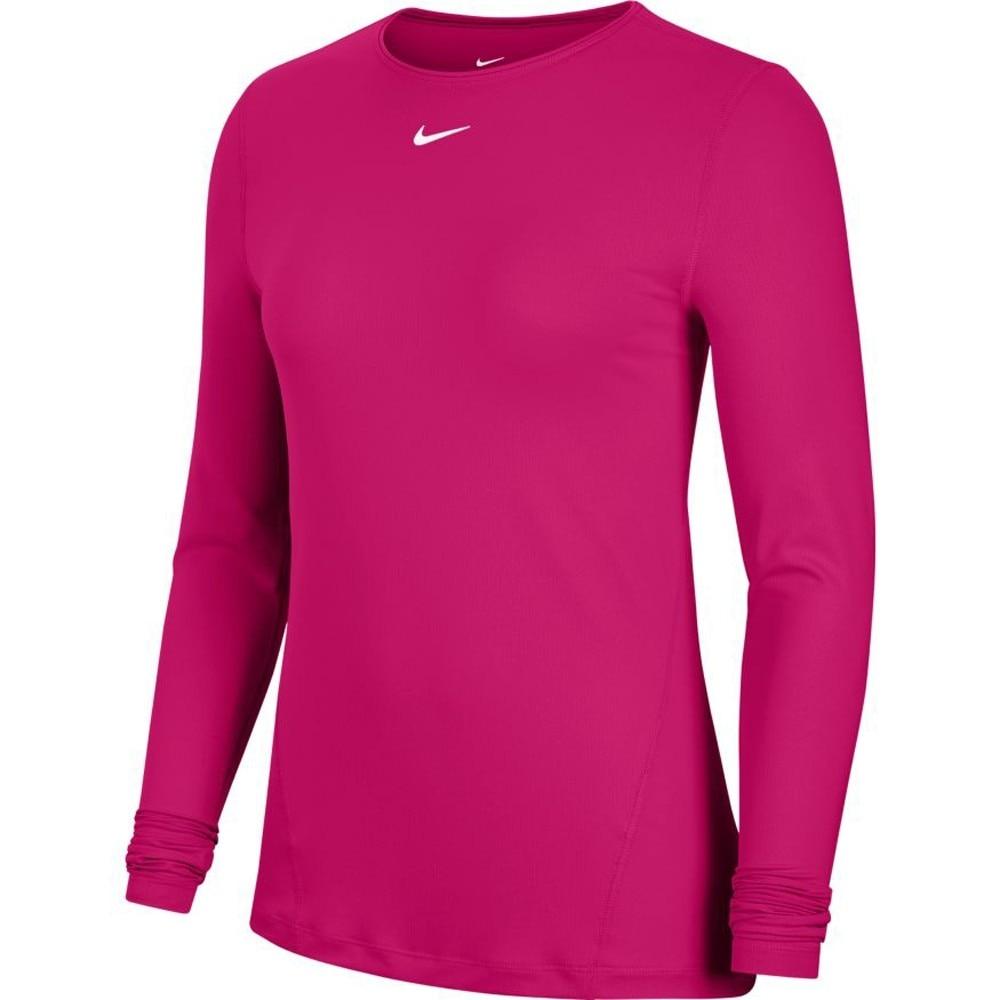 Nike Pro Mesh Langermet Treningstrøye Dame Mauve