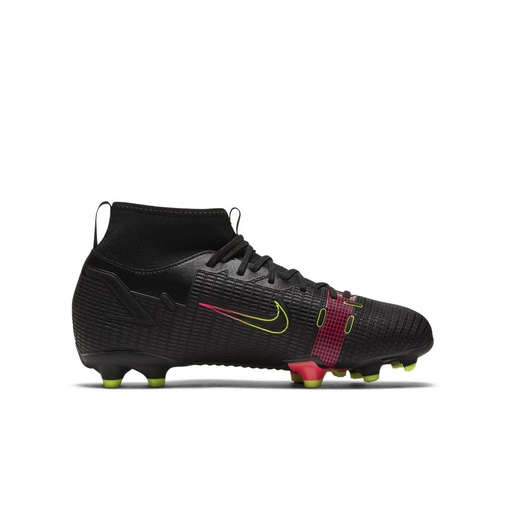 Nike Mercurial Superfly 8 Academy FG/MG Fotballsko Barn Black x Prism Pack