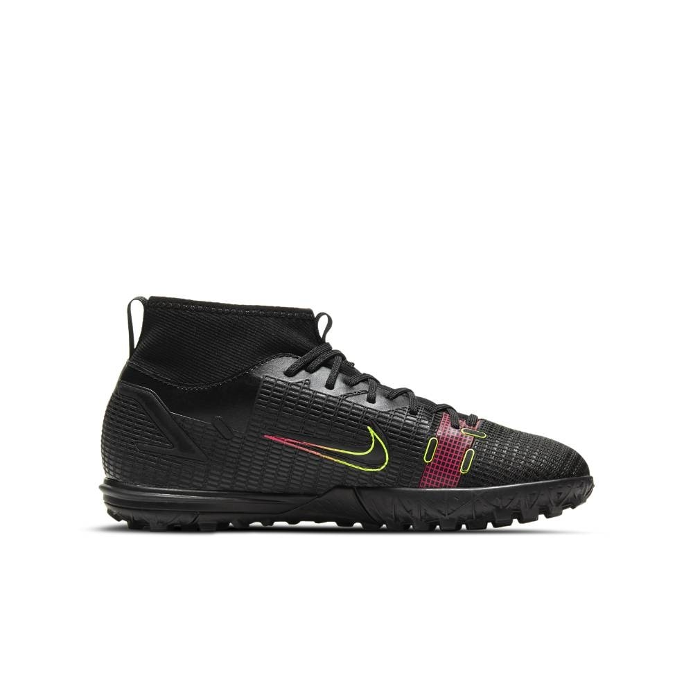 Nike MercurialX Superfly 8 Academy TF Fotballsko Barn Black x Prism Pack