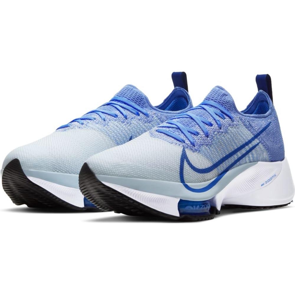 Nike Air Zoom Tempo Next% Flyknit Joggesko Dame Blå/Hvit