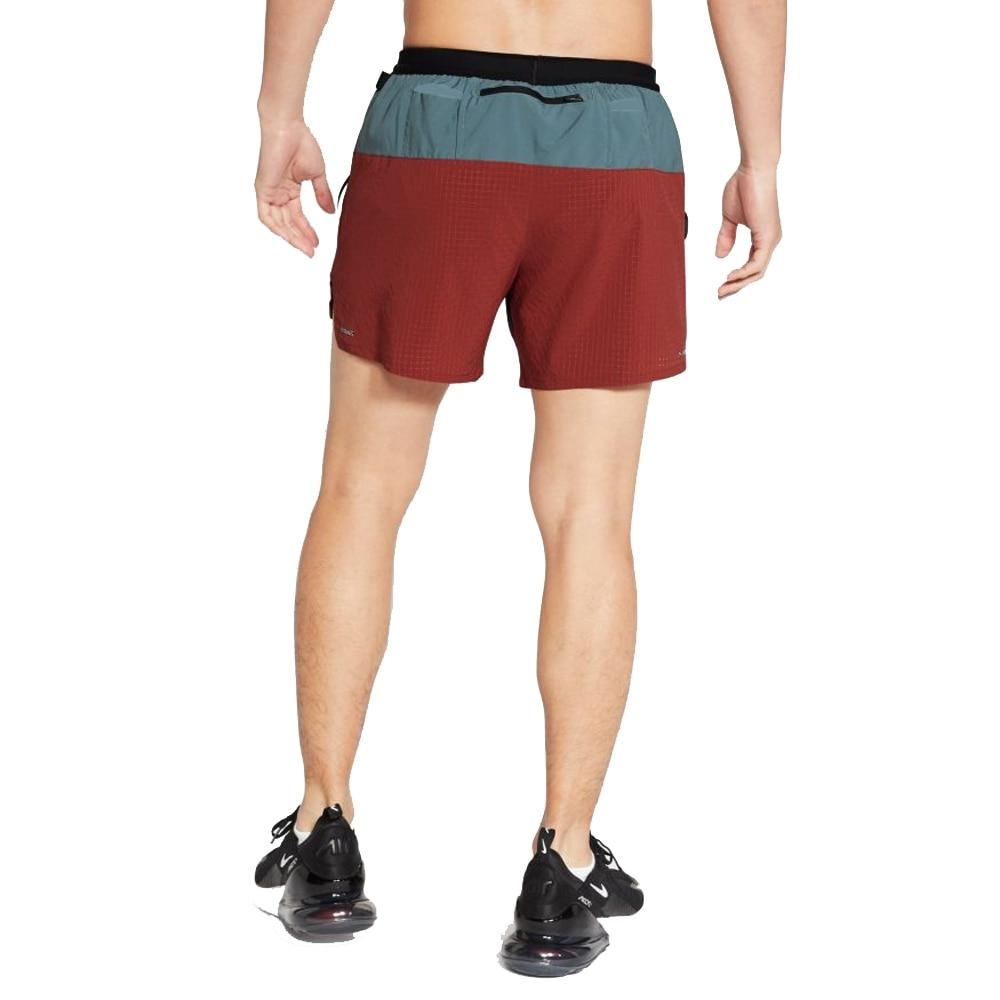 Nike Flex 5' Løpeshorts Trail Herre Grå/Burgunder