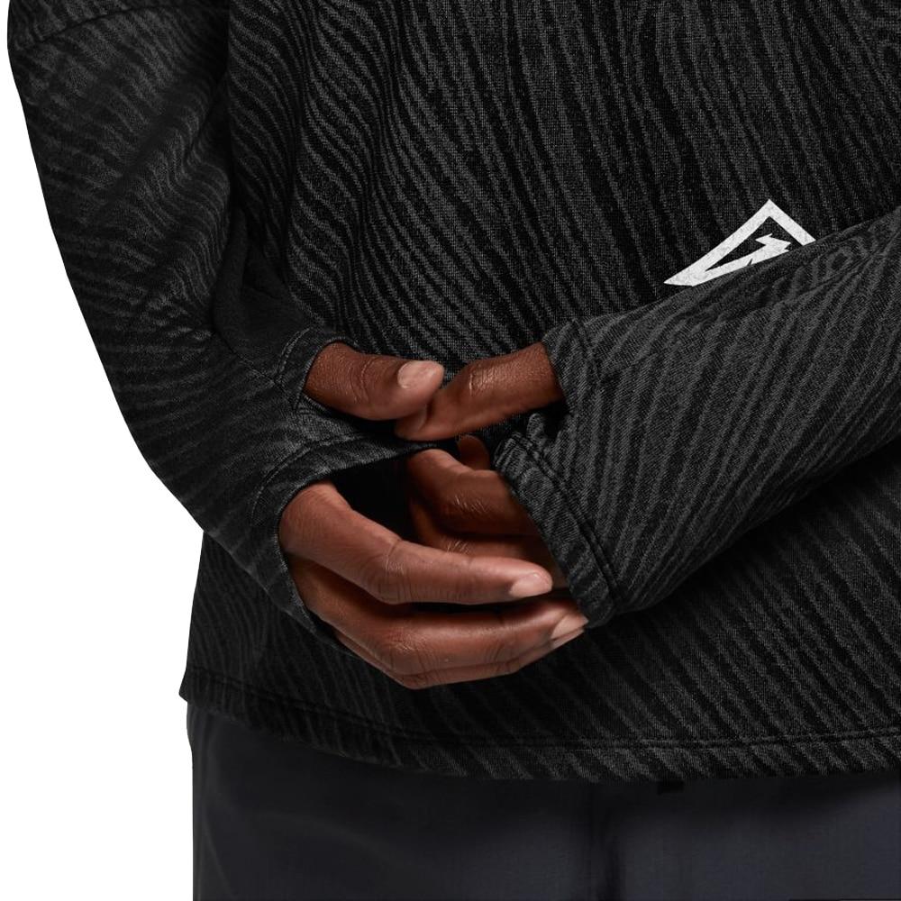Nike Element Top Trail Langermet Treningstrøye Herre Sort