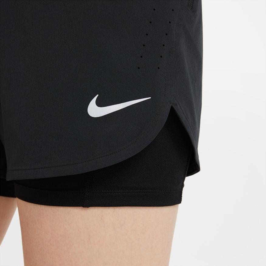 Nike Eclipse 2in1 Treningsshorts Dame Sort