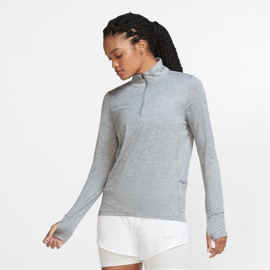 Nike Element Half-Zip Løpetrøye Dame Grå