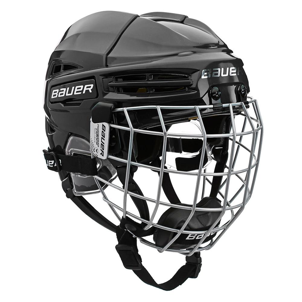 Bauer RE-AKT 100 Barn Combo Hockeyhjelm Svart