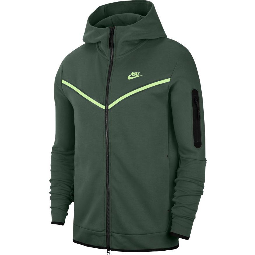 Nike Tech Fleece FullZip Hettegenser Grønn