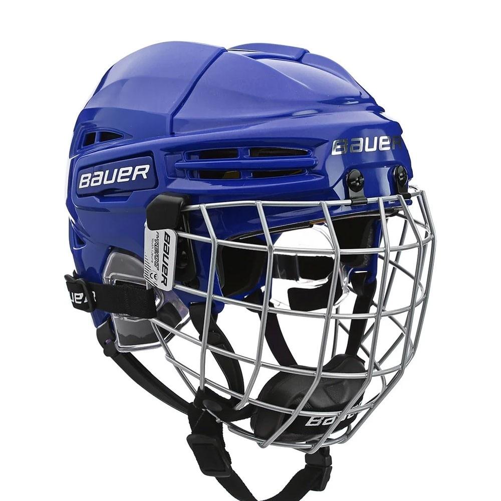 Bauer RE-AKT 100 Barn Combo Hockeyhjelm Blå