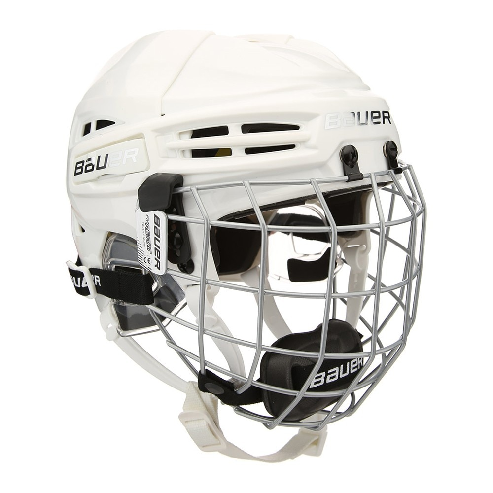 Bauer RE-AKT 100 Barn Combo Hockeyhjelm Hvit