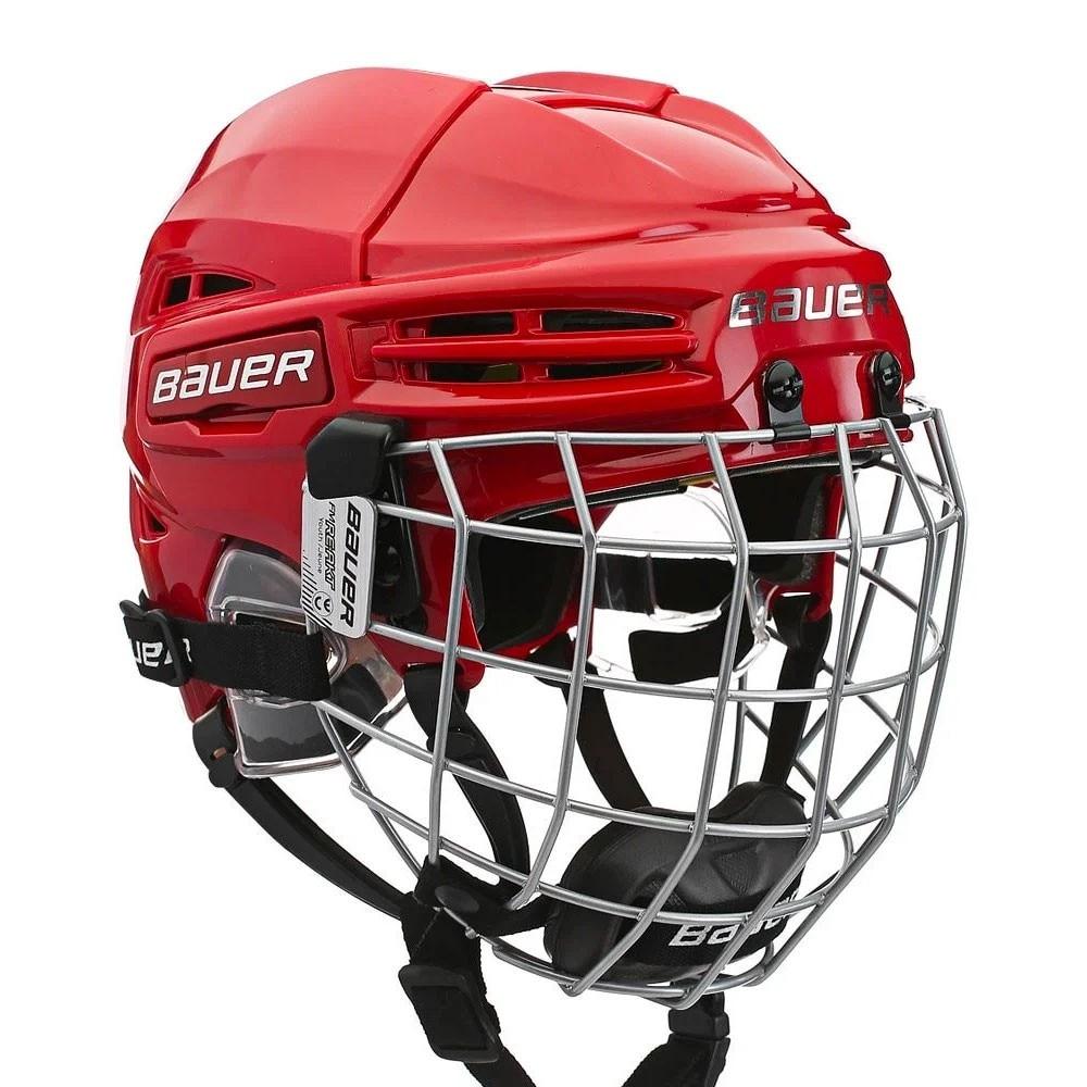 Bauer RE-AKT 100 Barn Combo Hockeyhjelm Rød