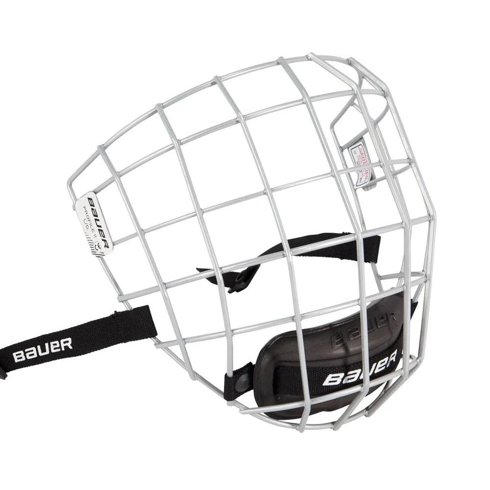 Bauer Profile II Hockeyhjelm Gitter Sølv
