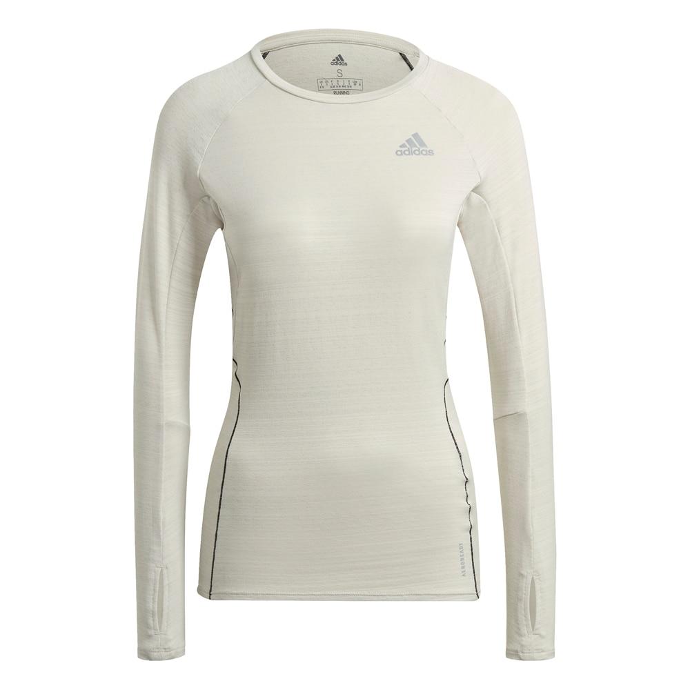 Adidas Runner Langermet Løpetrøye Dame Beige