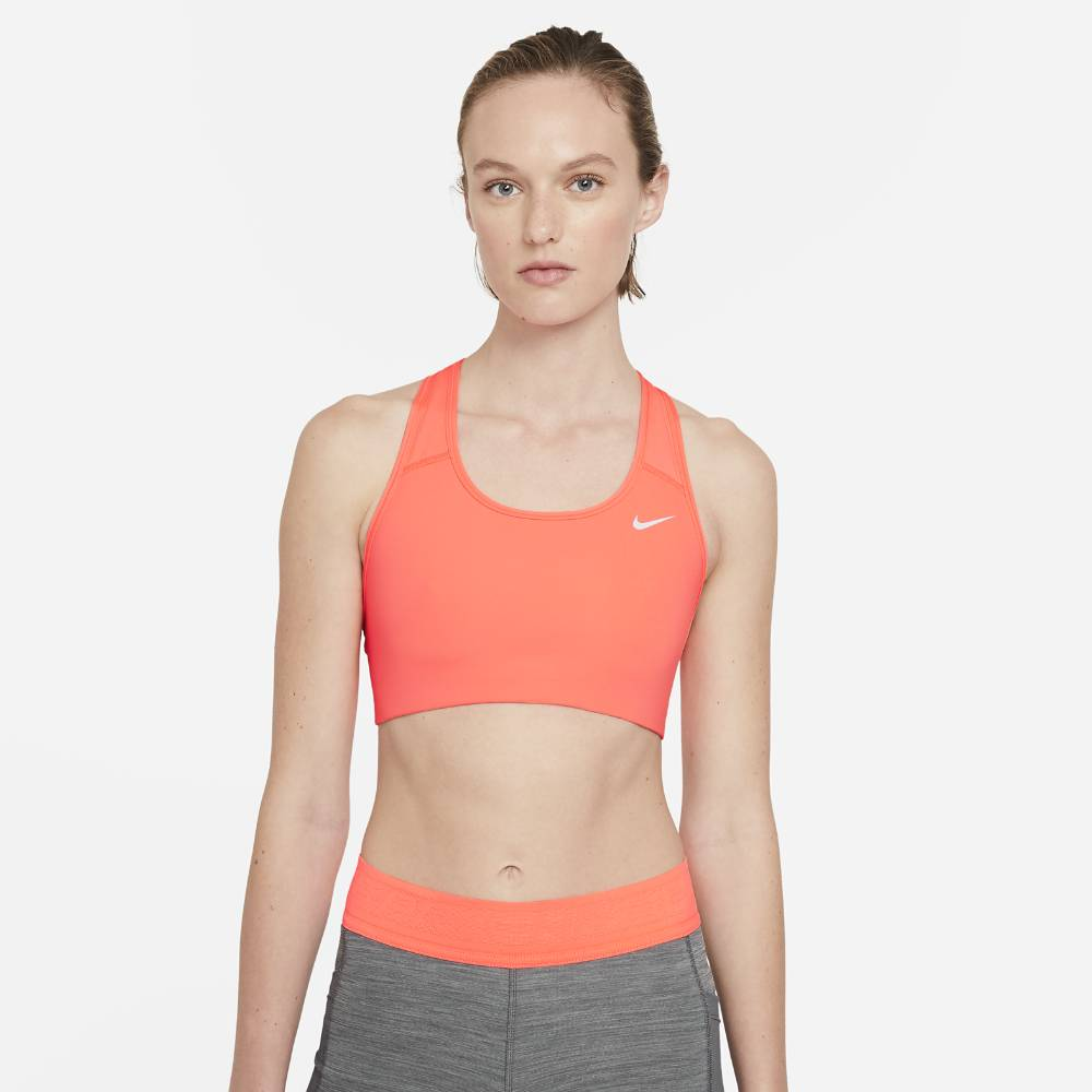 Nike Swoosh Non-Pad Sports-BH Dame Oransje