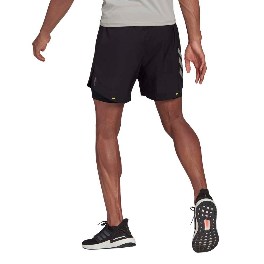 Adidas Fast 2-in-1 Løpeshorts Herre Sort