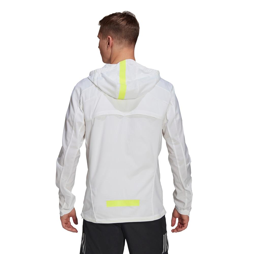 Adidas Marathon Translucent Løpejakke Herre Hvit