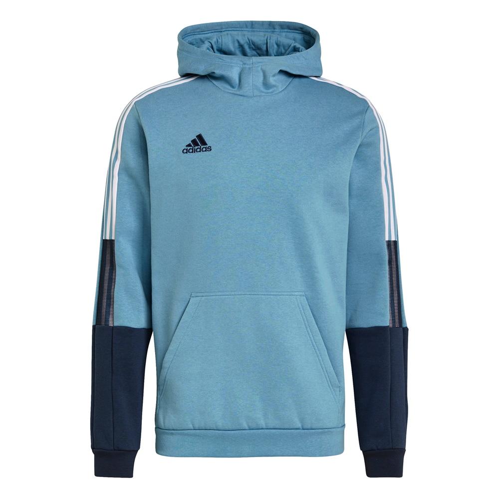 Adidas House of Tiro 21 Sweat Hoodie Hettegenser Lyseblå