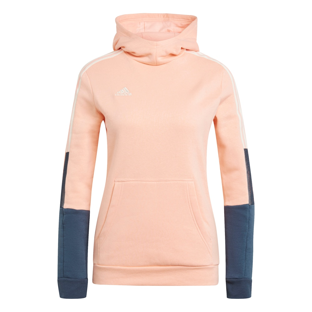Adidas House of Tiro 21 Sweat Hoodie Hettegenser Dame Rosa