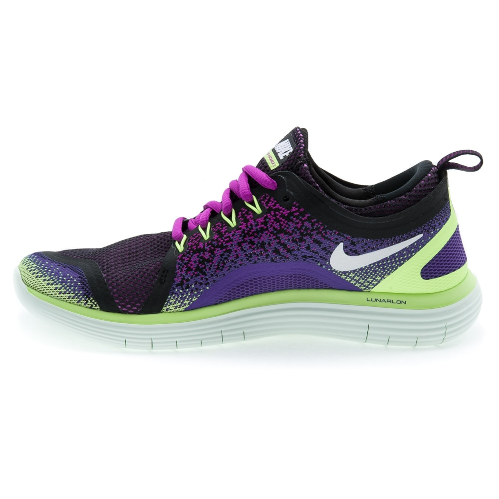 Nike Free Run Distance Joggesko Dame Lilla/Volt