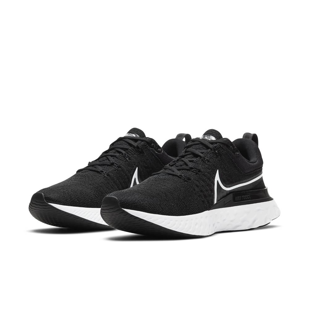 Nike React Infinity Run Flyknit 2 Joggesko Dame Sort/Hvit