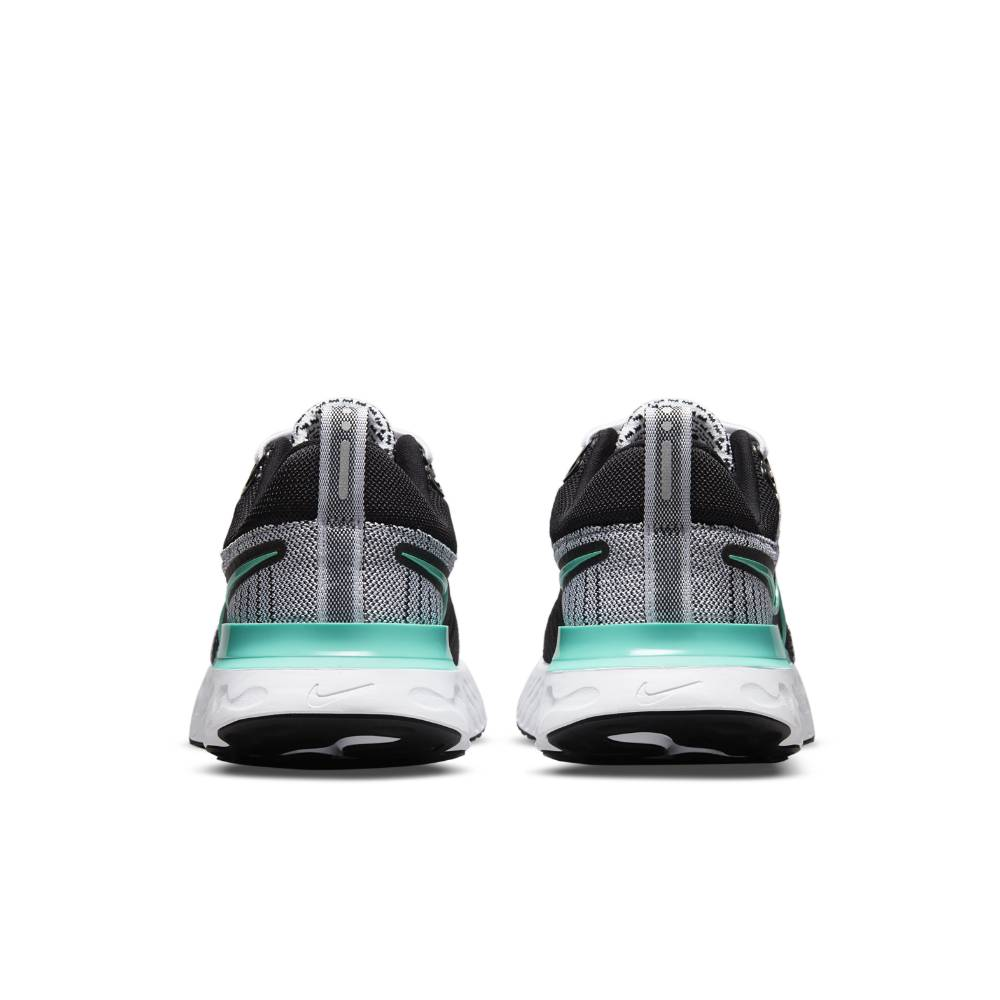 Nike React Infinity Run Flyknit 2 Joggesko Dame Sort/Grå/Turkis