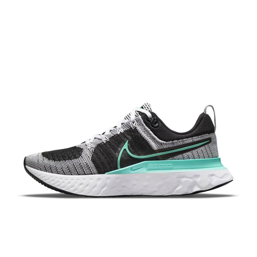 Nike React Infinity Run Flyknit 2 Joggesko Dame Sort/Grå/Turkis