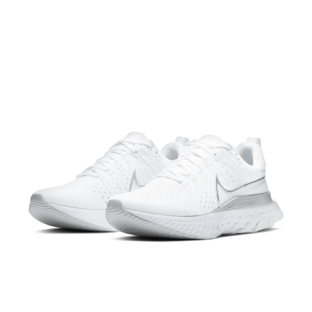 Nike React Infinity Run Flyknit 2 Joggesko Dame Hvit/Sølv