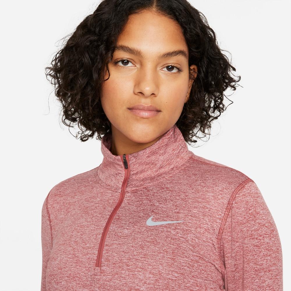 Nike Element Half-Zip Løpetrøye Dame Burgunder
