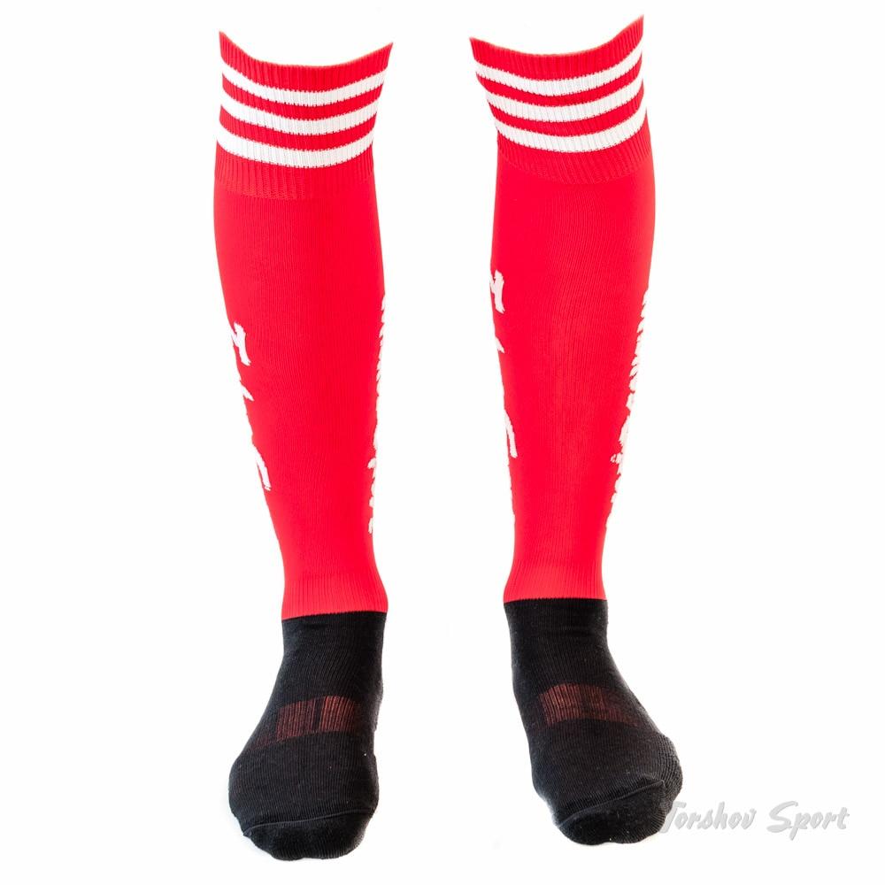 Torshov Sport Fotballstrømper Vinter Ull Rød/Hvit