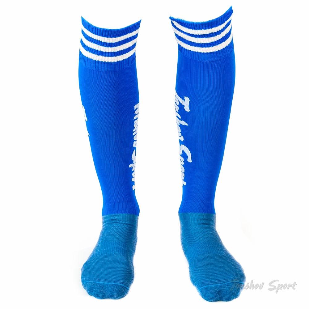 Torshov Sport Fotballstrømper Vinter Ull Blå/Hvit