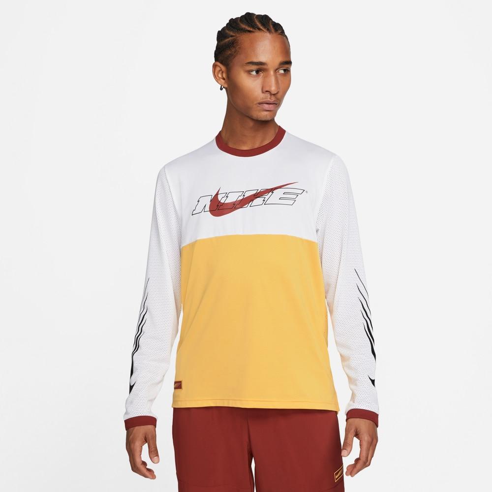 Nike Sport Clash Langermet Treningstrøye Hvit/Gul