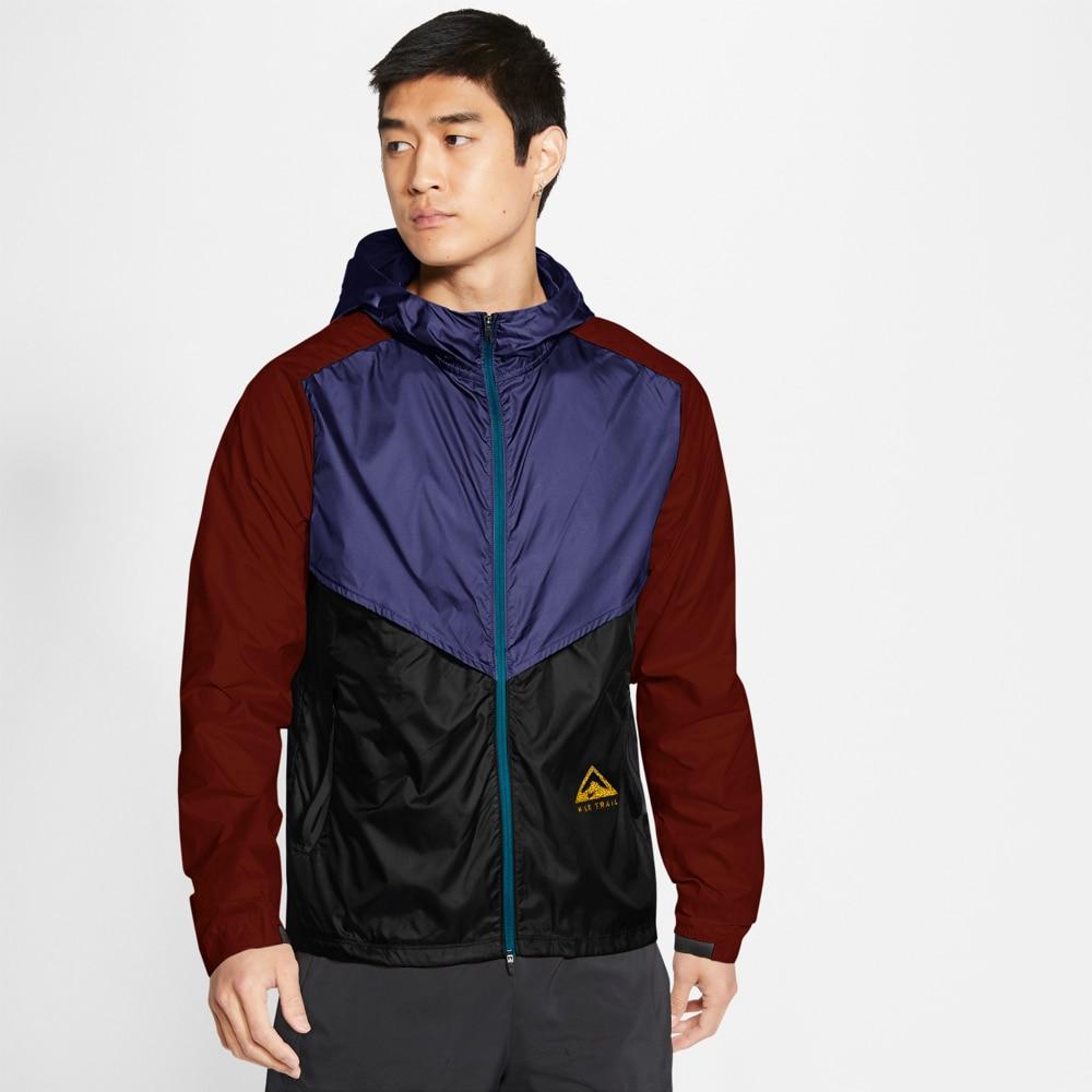 Nike Windrunner Trail Løpejakker Herre Sort/Lilla/Burgunder