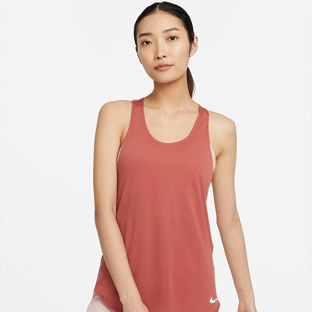 Nike Breathe Cool Tank Singlet Dame Burgunder