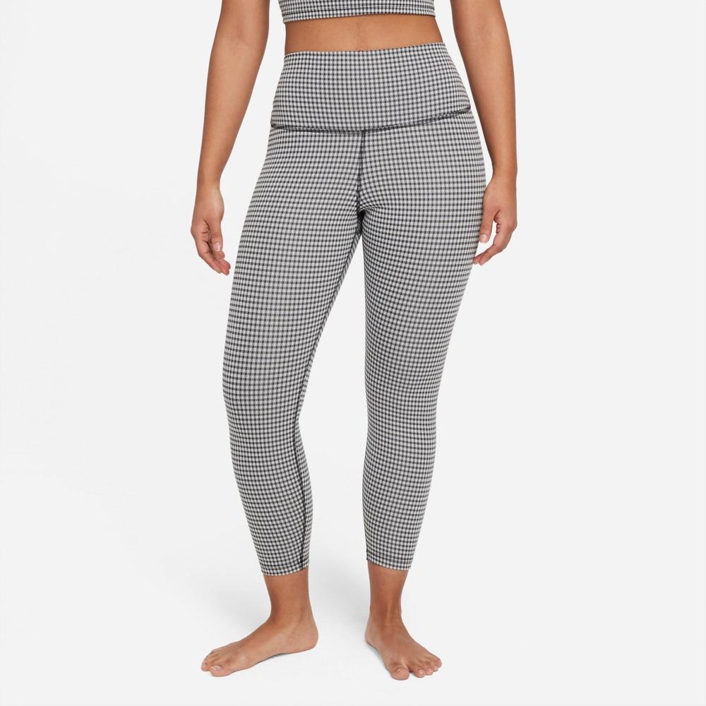 Nike Gingham Crop Tights Dame Grå