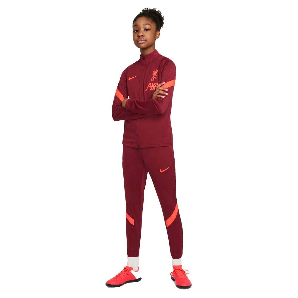 Nike Liverpool FC Treningsdress 21/22 Barn Burgunder