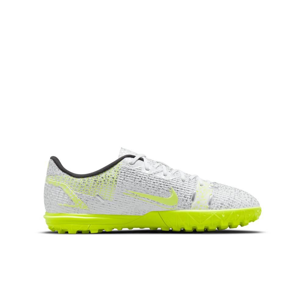 Nike MercurialX Vapor 14 Academy TF Fotballsko Barn Silver Safari