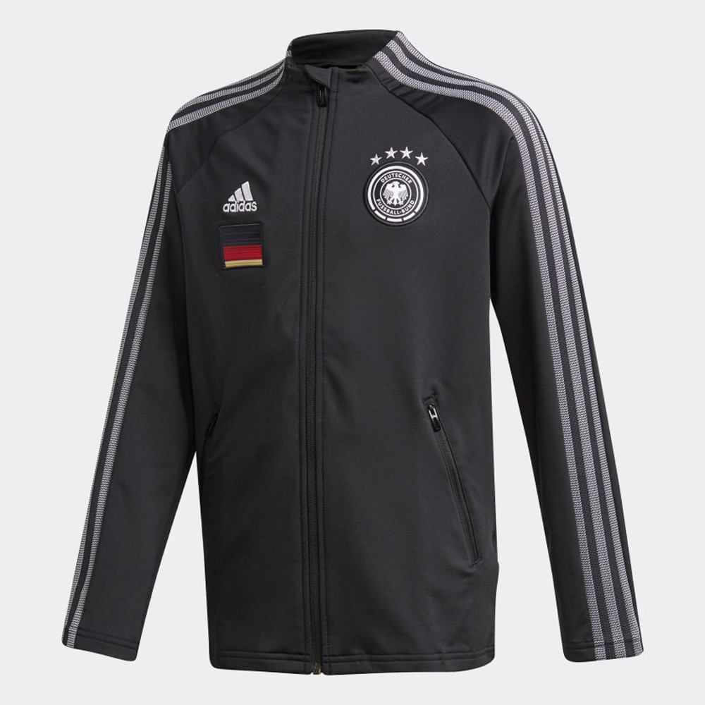 Adidas Tyskland Anthem Fotballjakke EM 2021 Barn Sort