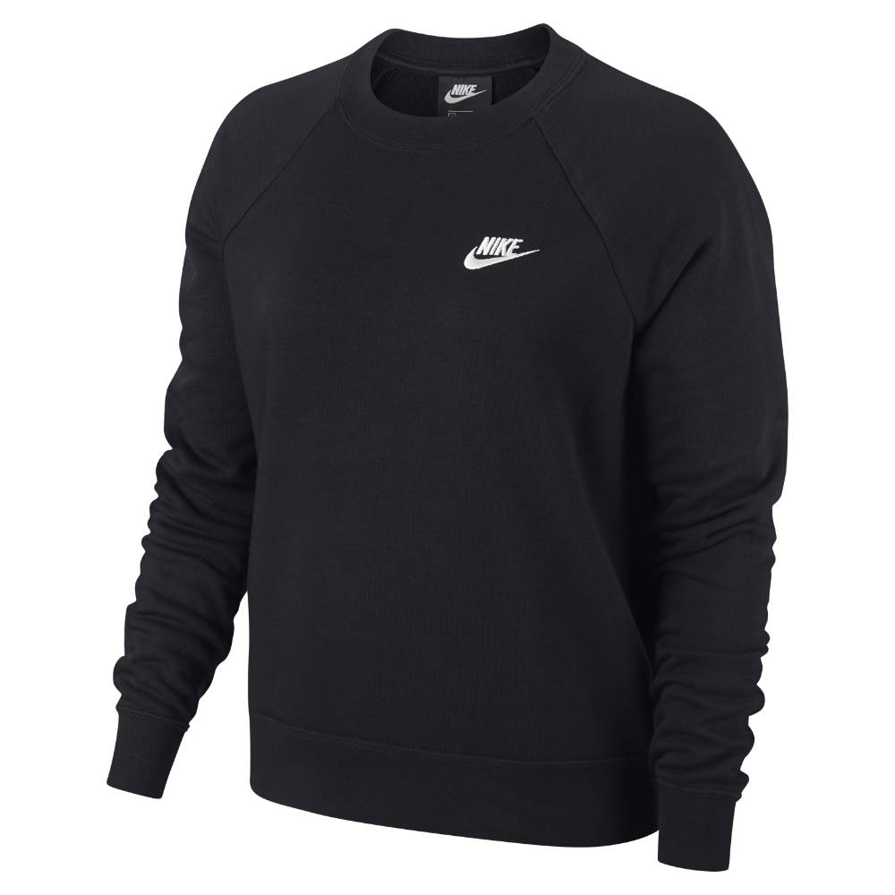Nike NSW Essential Fleece Crew Genser Dame Sort