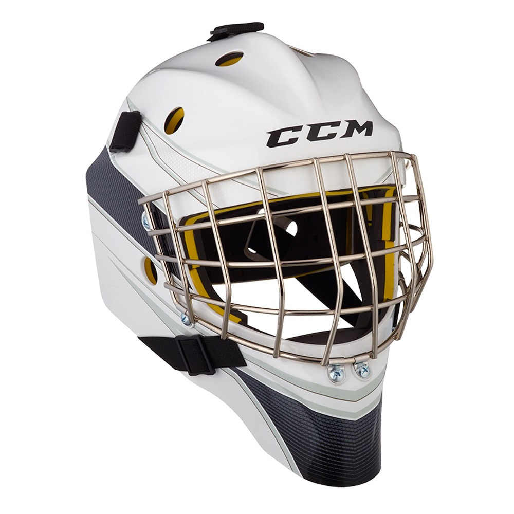 Ccm AXIS 1.5 Junior Keepermaske Hockey Certified Cat Eye Hvit/Svart