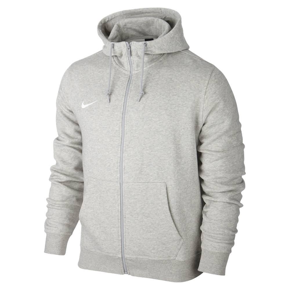 Nike Team Club FullZip Hoody Hettegenser Grå