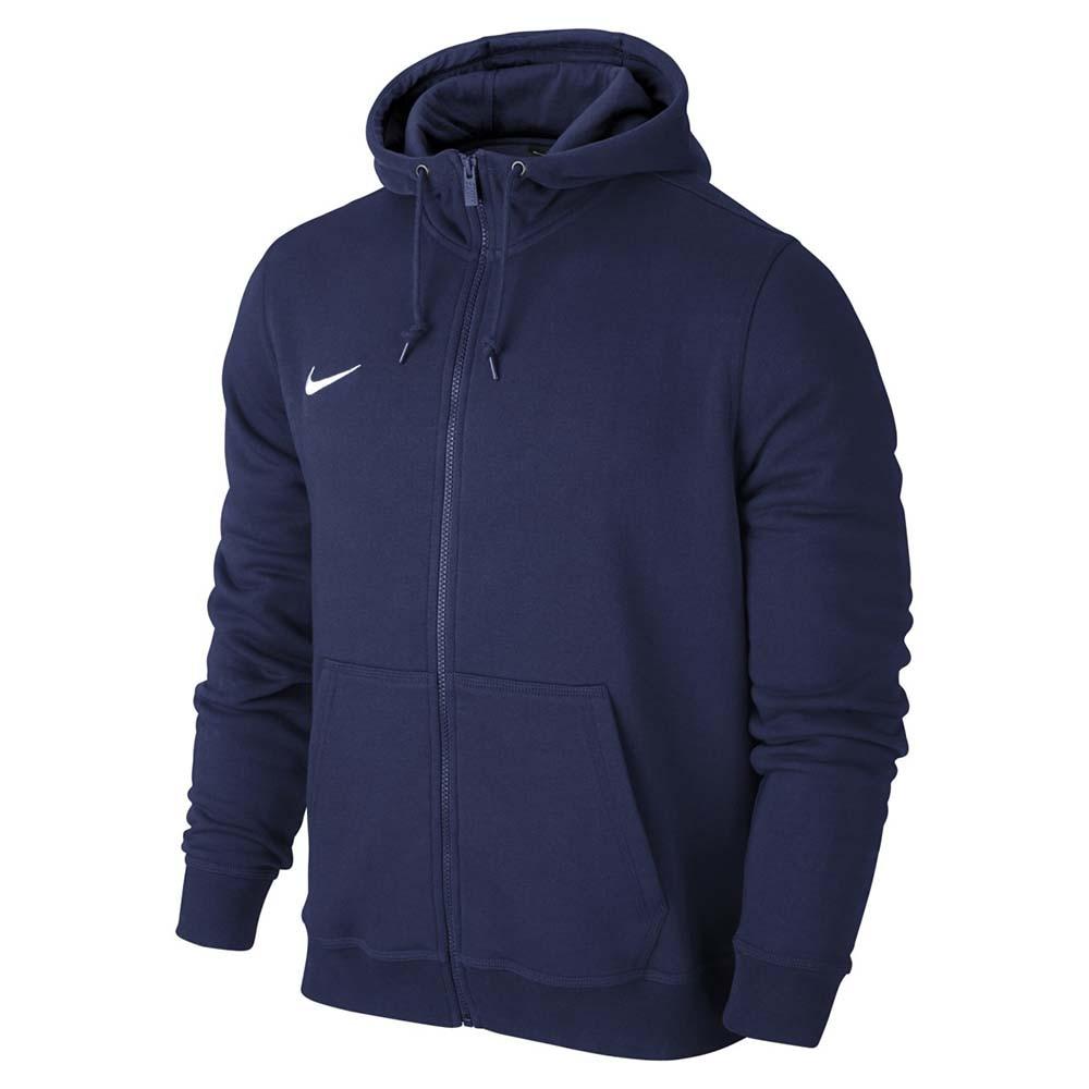 Nike Team Club FullZip Hoody Hettegenser Barn Marine