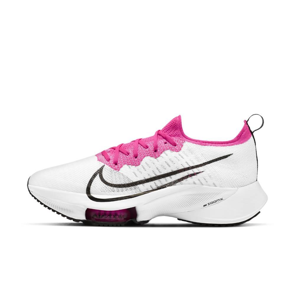 Nike Air Zoom Tempo Next% Flyknit Joggesko Dame Hvit/Rosa
