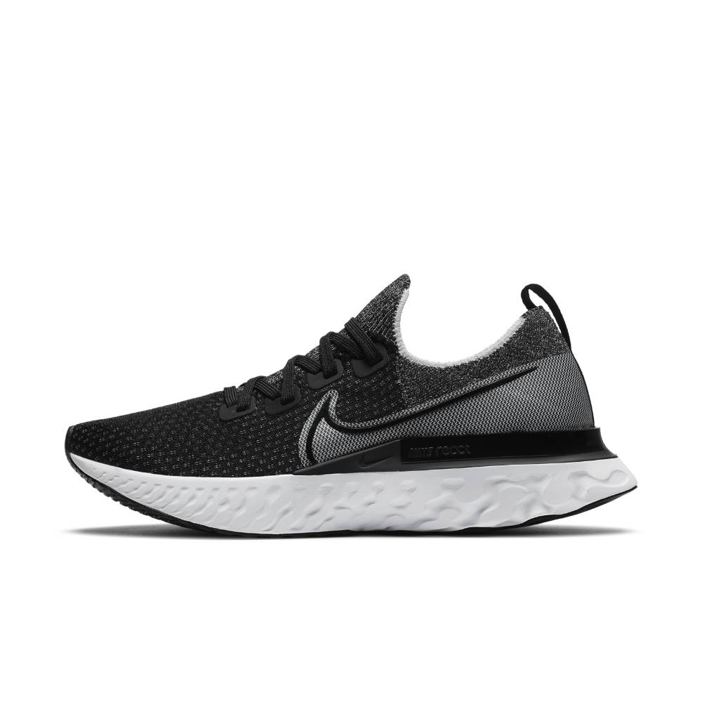 Nike React Infinity Run Flyknit Joggesko Sort/Grå