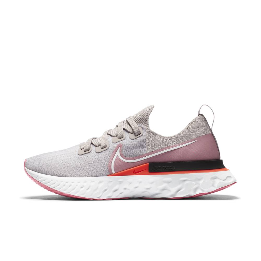 Nike React Infinity Run Flyknit Joggesko Dame Grå/Rosa