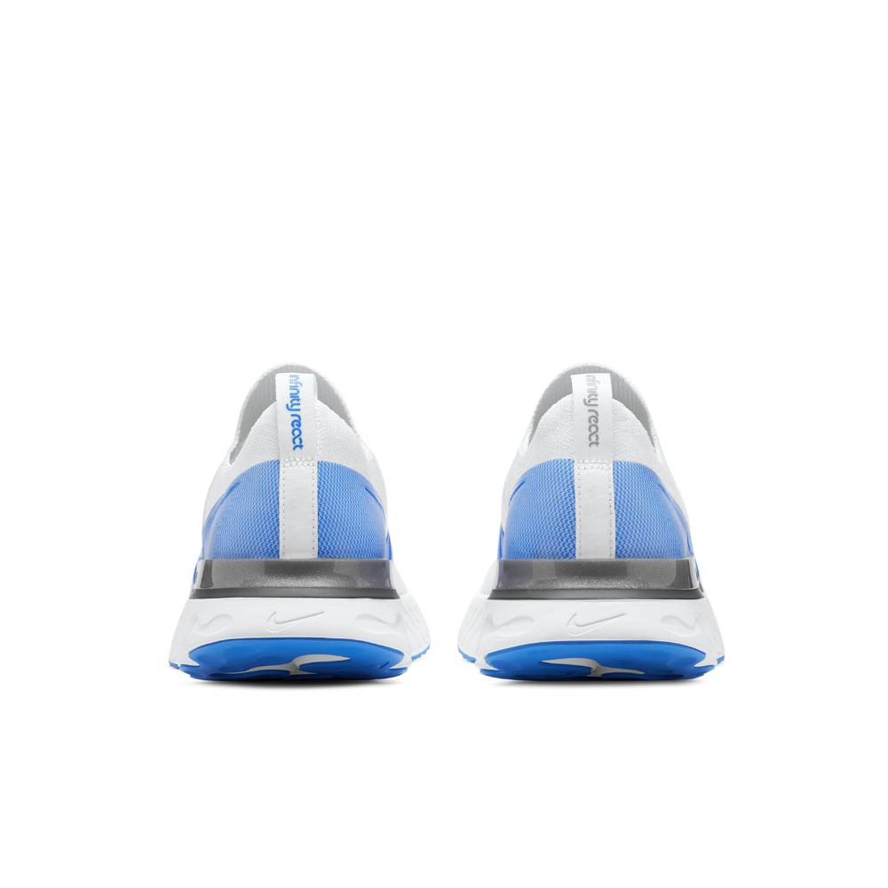 Nike React Infinity Run Flyknit Joggesko Hvit/Blå