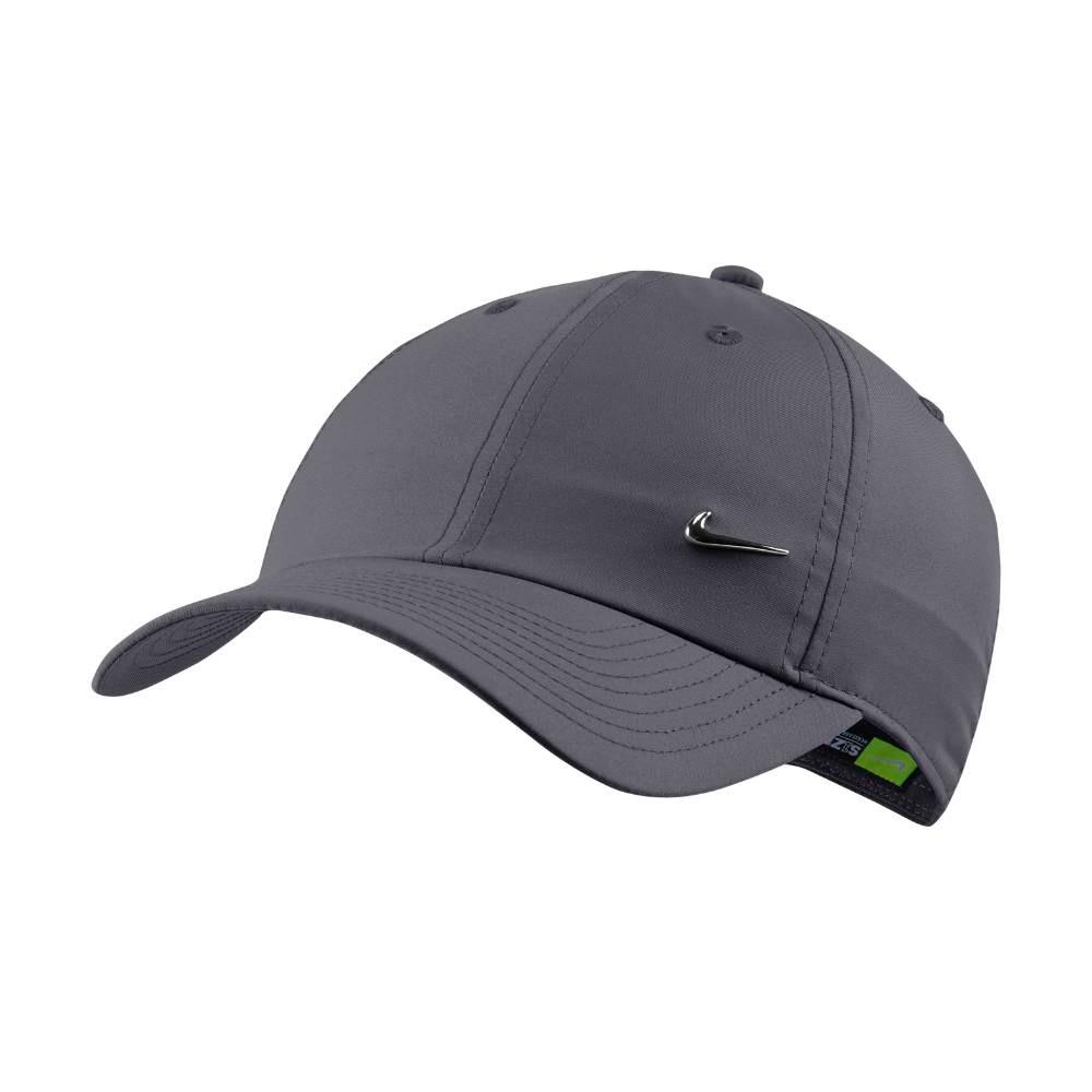 Nike NSW H86 Metal Swoosh Caps Grå