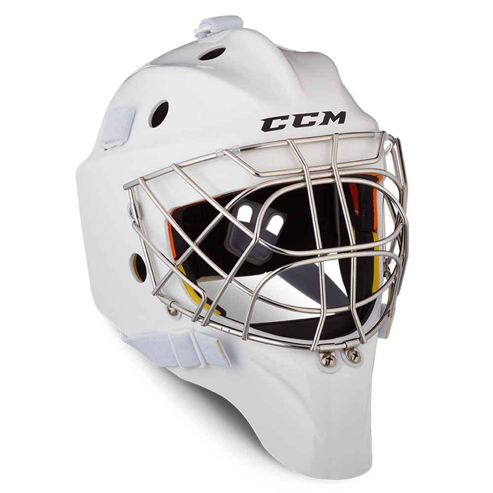 Ccm AXIS 1.9 Keepermaske Hockey Certified Cat Eye Hvit