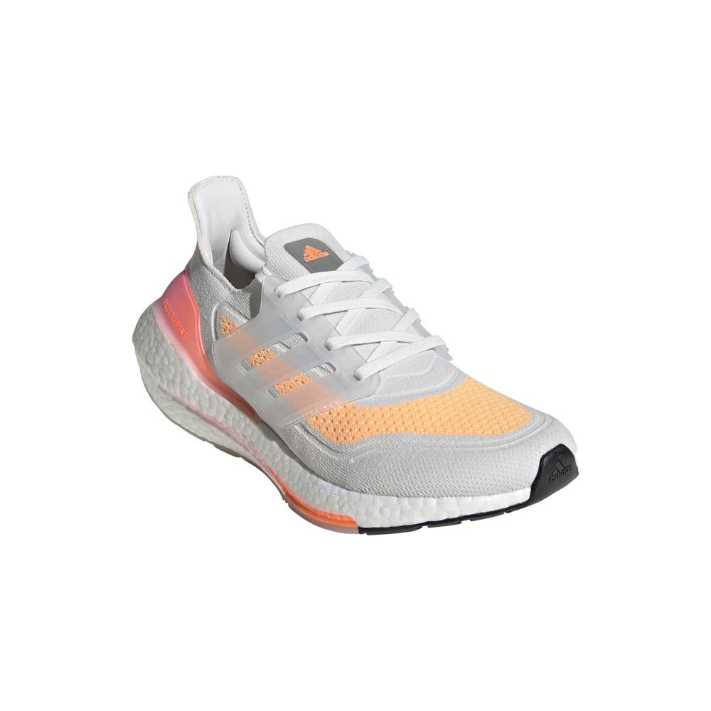 Adidas UltraBoost 21 Joggesko Dame Hvit/Rosa/Oransje
