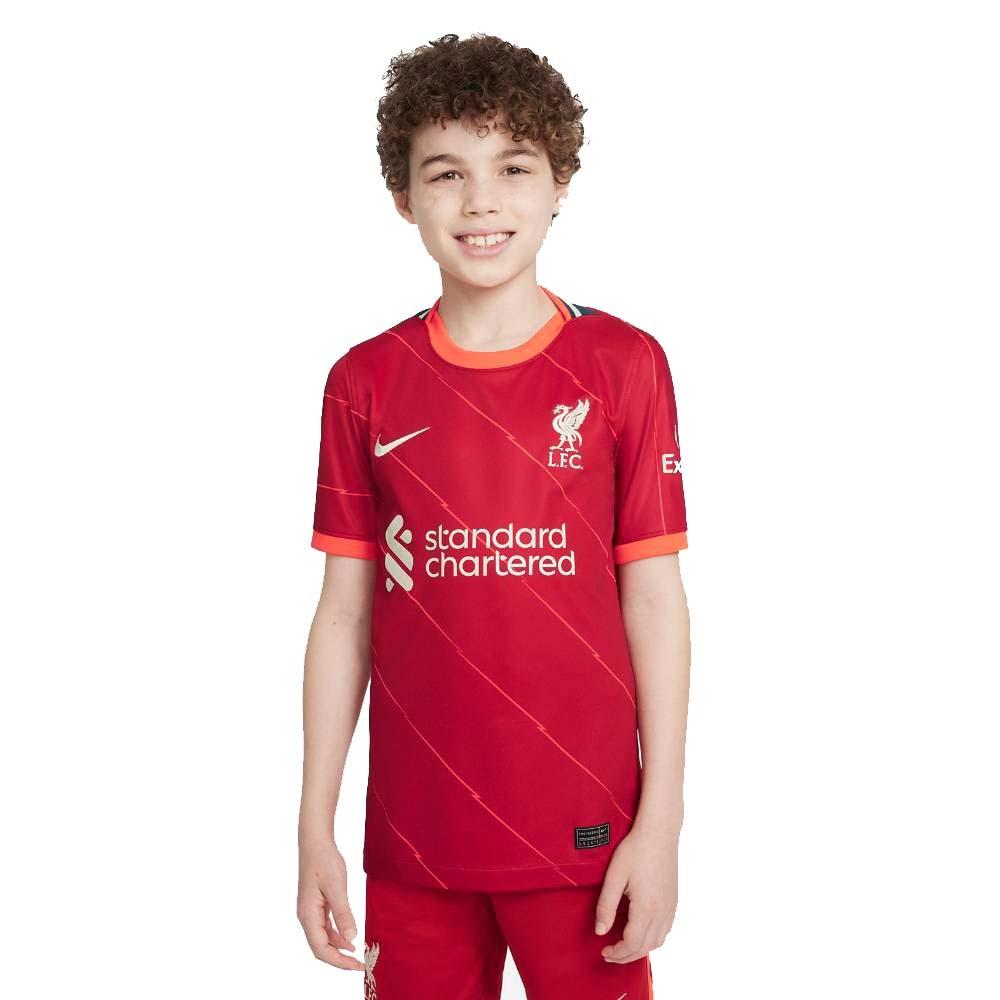 Nike Liverpool FC Fotballdrakt 21/22 Hjemme Barn