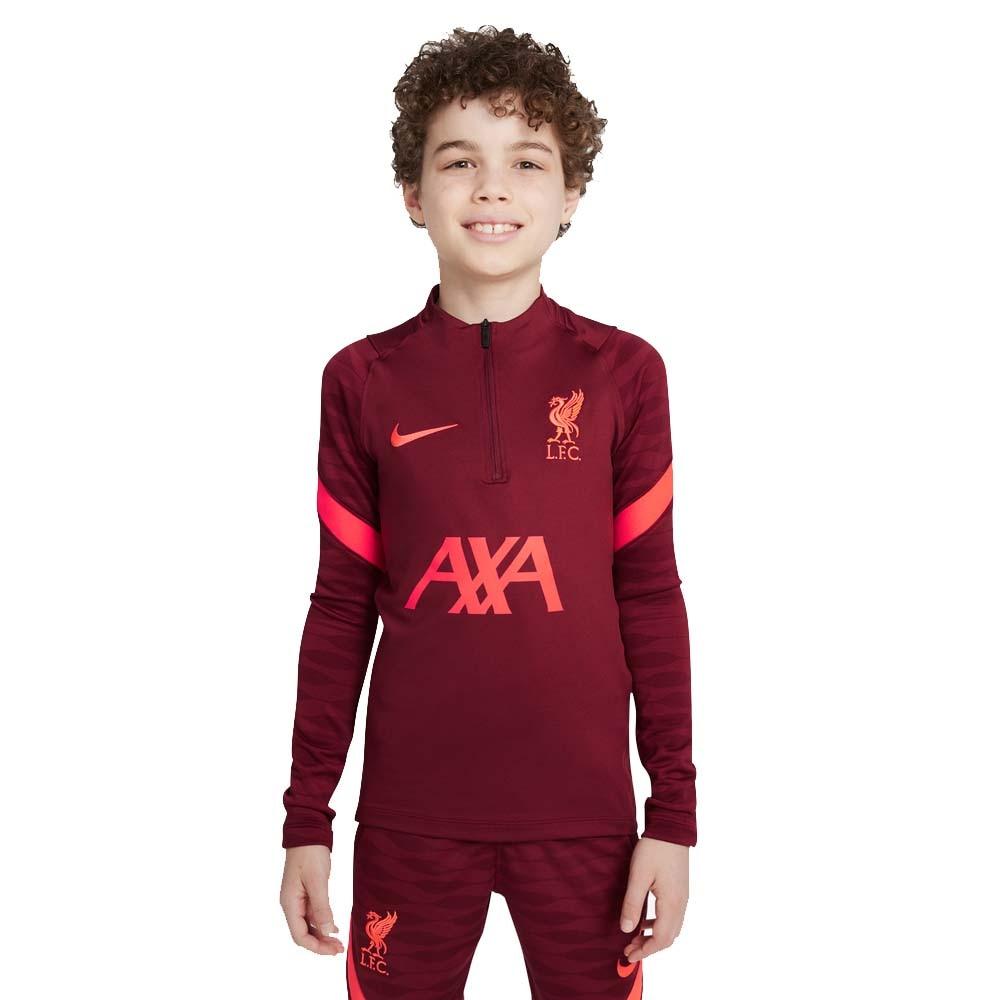 Nike Liverpool FC Dry Strike Treningsgenser 21/22 Barn Burgunder