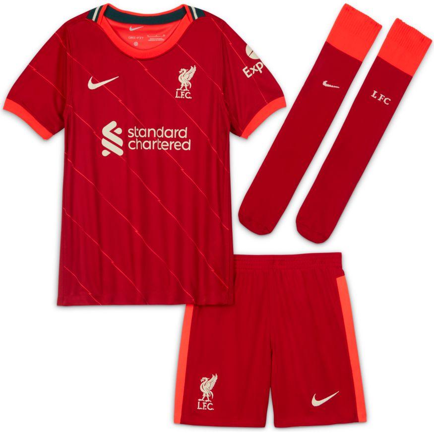 Nike Liverpool FC Draktsett 21/22 Hjemme Barn