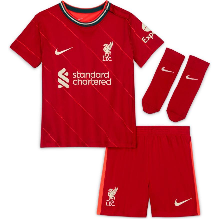 Nike Liverpool FC Draktsett 21/22 Hjemme Baby